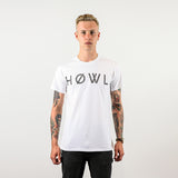 HOWL classic tee white worn by Sam Thompson front