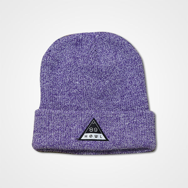 HOWL Heritage Beanie - Heather Purple
