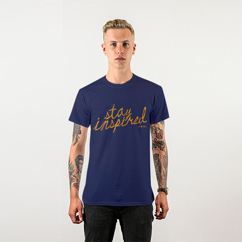 Stay Inspired Script Tee - PREMIUM COTTON
