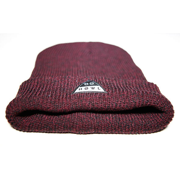 HOWL Heritage Beanie - Antique Burgundy front