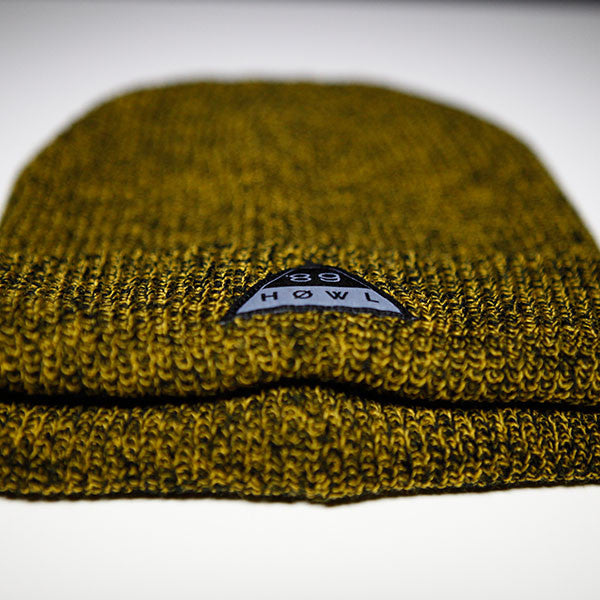 HOWL Heritage Beanie - Antique Mustard front