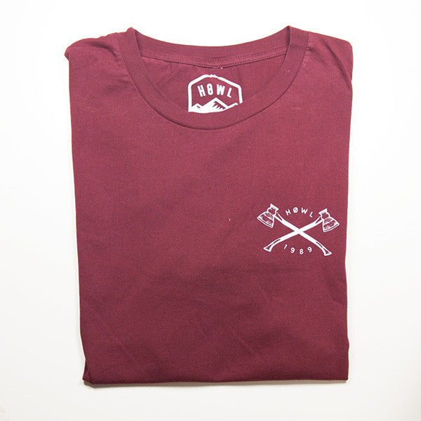 THE BURGUNDY OUTDOORSMAN - PREMIUM ORGANIC COTTON