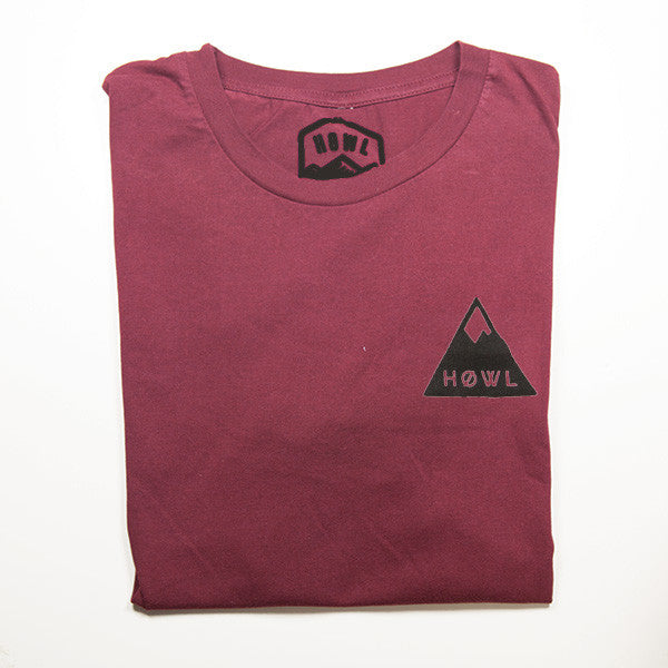 THE MAROON MNTNS TEE - PREMIUM ORGANIC COTTON