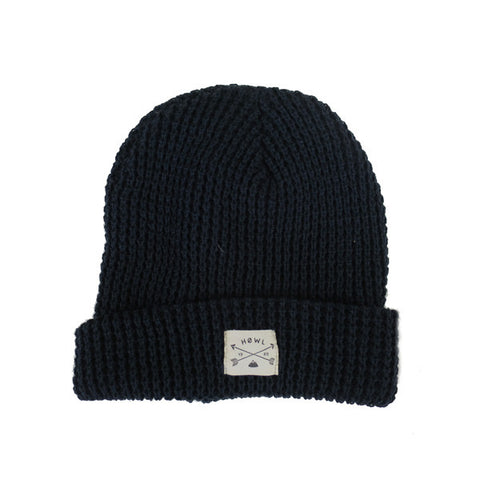 THE FISHERMAN WAFFLE FRENCH NAVY BEANIE