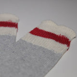 NEW WOOL BLEND Field Sock - White/Grey/Red