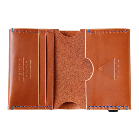 Limited Edition Handmade Leather Bi-fold wallet: HØWL x LUNA VIDEA