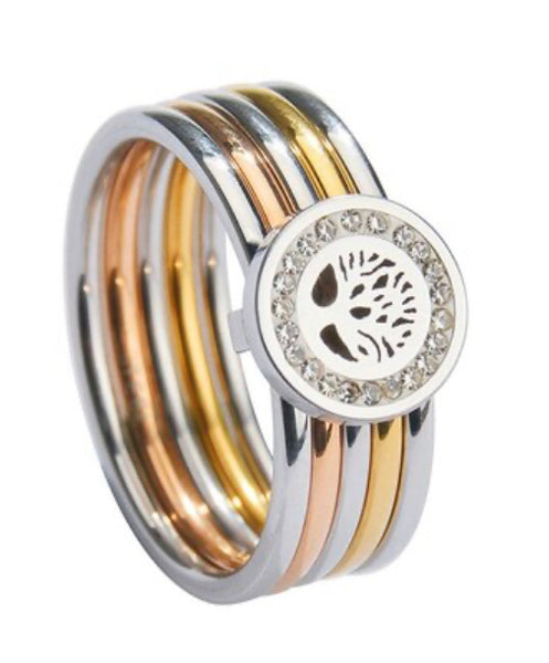 SS 316L Tree of Life Ring