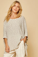Load image into Gallery viewer, Heather Grey Knit Sweater Top Plus