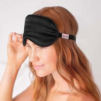 Load image into Gallery viewer, Satin Eye Mask - Black