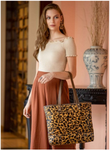 Load image into Gallery viewer, Myra Bag Clinch Leather & Hair-On Bag S-2612