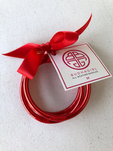 BuDhaGirl Red All Weather Bangles Medium