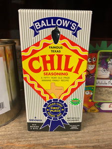 Ballow's Chili Seasoning