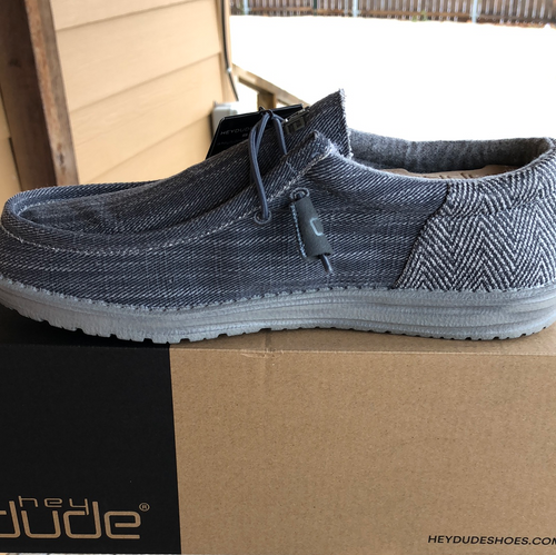 Hey Dude®Wally Funk Herringbone Steel Grey