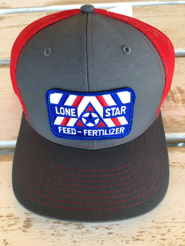 Lone Star Feed & Fertilizer Cap - Neon Red