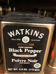 Watkins Black Pepper 4oz