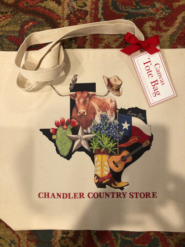 Tx Canvas Tote Bag Chandler