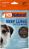 K9Natural Beef Lung Protein Bites 50g