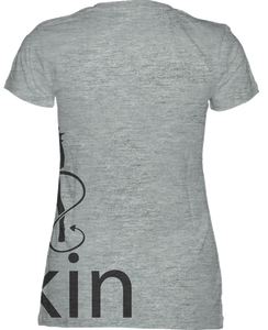 WOMENS V NECK TEE - STEALTHY