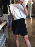 TWILL CROSS MINI SKIRT