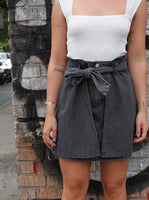 CHLOE WRAP DENIM MINI SKIRT