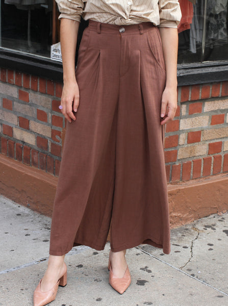 SAMMY LINEN CROP PANTS