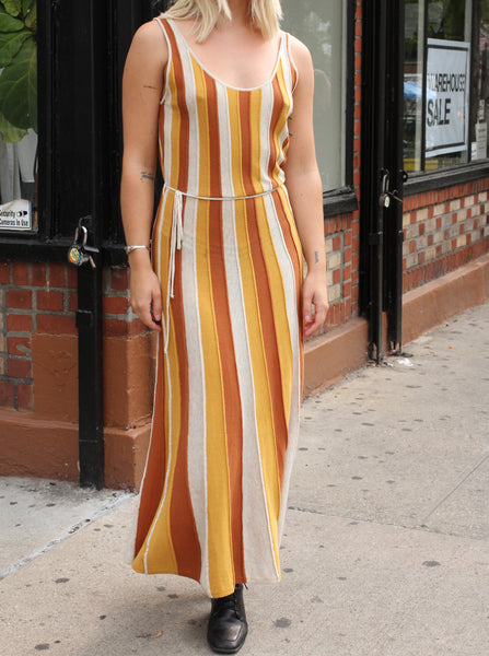 FALL STRIPES MAXI DRESS