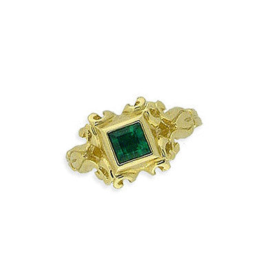 14K Gold Emerald Lace Ring Spanish Galleon  Shipwreck Re-creation