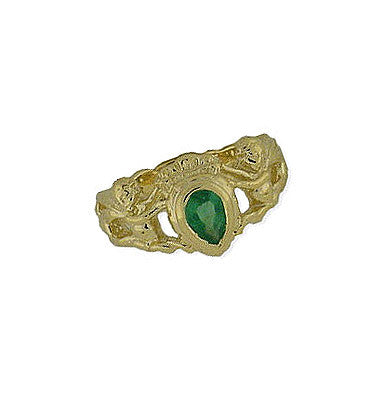 14K Gold Emerald Crown Ring Spanish Galleon Shipwreck Re-creation