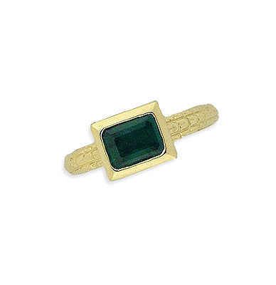 14K Gold Emerald Box Ring Atocha Re-creation