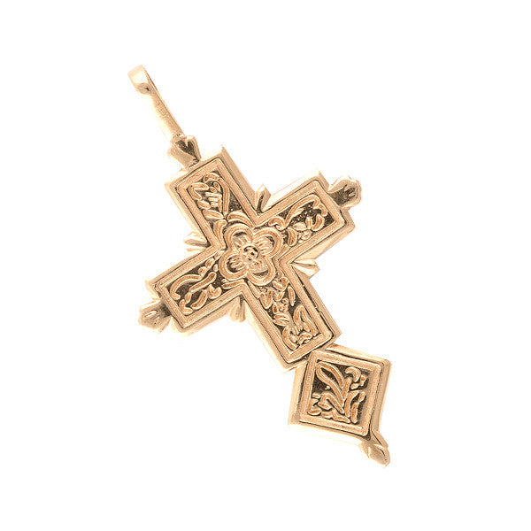 Spanish Galleon Shipwreck Re-creation 14K Gold Cross with Emeralds - SMAL