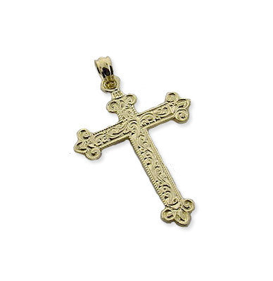 Spanish Galleon Shipwreck Re-creation 14K Gold Cross
