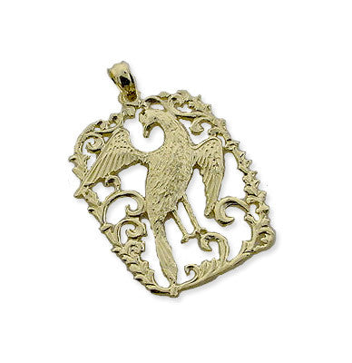 14K Gold Bird Pendant