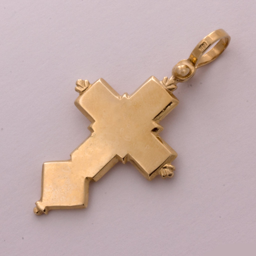14K Spanish Galleon Shipwreck Re-creation Cross - Large