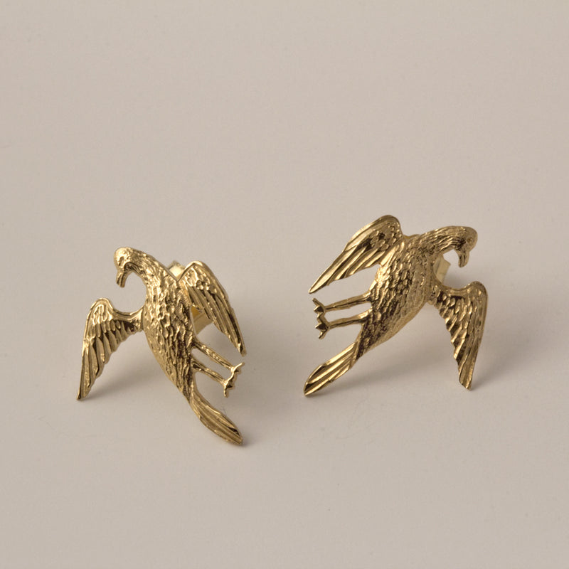14K Bird Post Earrings
