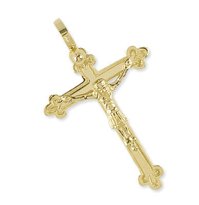Spanish Galleon Shipwreck Re-creation 14K Gold Cross - Large