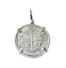 Taffi Fisher Collection 2 Reales Atocha Re-creation Silver Coin, Cross Side