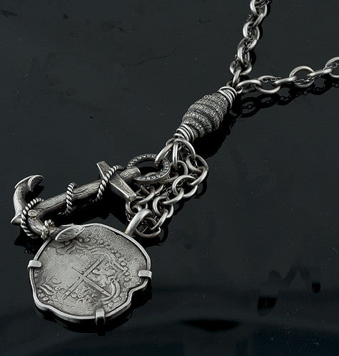 Irit Design - Anchor Mount Atocha Grade 2 Coin Necklace