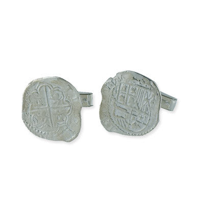 Re-creation Atocha Coin Sterling Silver Cuff Links