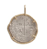 Atocha Re-creation Coin Pendant 4 Reales Single Prong in 14K Gold Mount