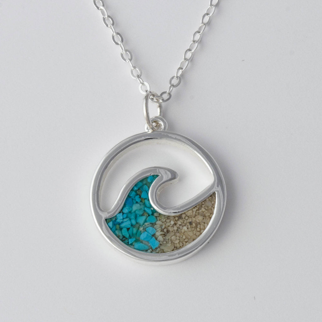 DUNE Wave Necklace with Turquoise