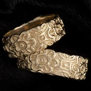 14K Gold Olive Blossom Ring Spanish Galleon Shipwreck Re-creation