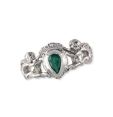 Silver Emerald Crown Ring Spanish Galleon Shipwreck Re-creation