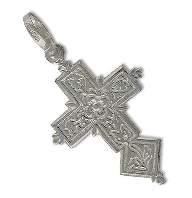 Spanish Galleon Shipwreck Re-creation Sterling Silver Cross - Large