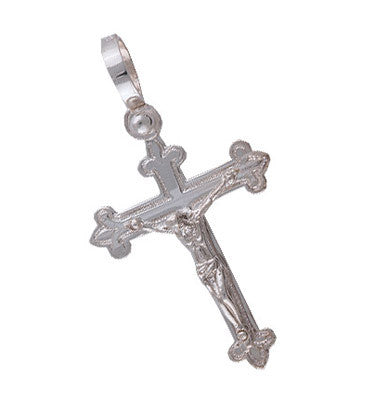 Spanish Galleon Shipwreck Re-creation Sterling Silver Cross - Small