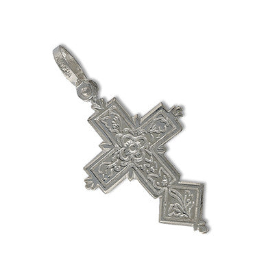 Sterling Silver Engraved Mini Cross Spanish Galleon Shipwreck Re-creation