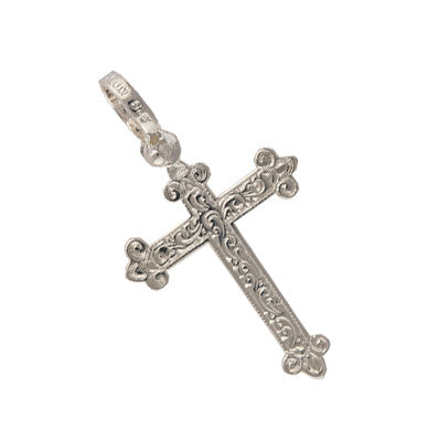 Sterling Silver 2 Sided Tri-tipped Cross Spanish Galleon Shipwreck Re-creation