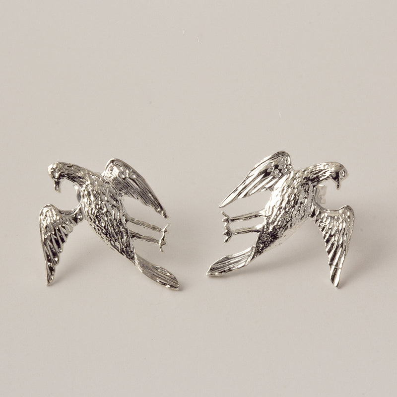 Sterling Silver Bird Post Earrings