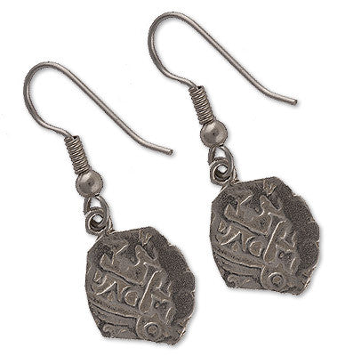 Shipwreck Jewelry Collection, Small Atocha Re-creation Earrings, Silver
