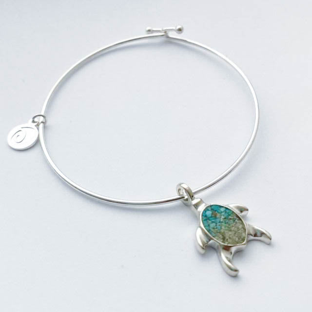 DUNE Sterling Silver Beach Bangle - Turtle