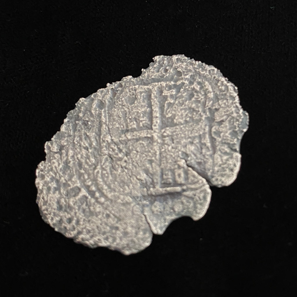 Authentic 8 Reales Silver coin from Consolacion Shipwreck